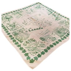Oh, CANADA, Map & Scenic Tablecloth