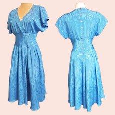 PERIWINKLE Blue Beautiful Mid-Century-Style Dress
