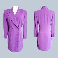 PURPLE PASSION Sophisticated Wrap Dress, Size 14
