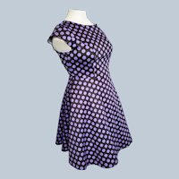 Passionate Purple Polka Dot Dress for the Curvy Lady