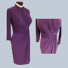 Passionate Purple Wrap Dress - Curvy-Lady Size!