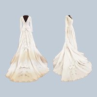 Pearls, Bows & Lace Stunning Satin Wedding Dress