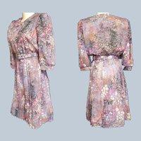 Pretty-as-a-Picture 1960's Shirtwaist Dress