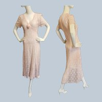 Pretty-in-Pink Lace Downton Abbey-Style Dress