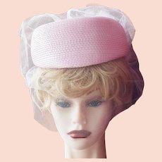 Pretty in Pink Pill-Box Bonnet