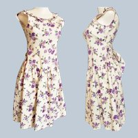 Pretty, Perky, Purple Petunia Tween/Teen Sun Dress