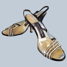 Put a SPARKLE in your STEP, Vintage Glam Heels
