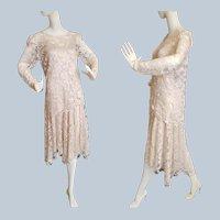 ROARING 20's Lace Flapper Dress