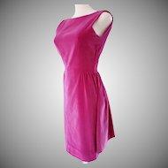 VELVET 1960's Radiant Raspberry Cocktail Dress