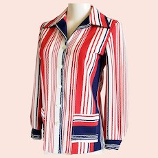 Red, White & Blue 1960's Barclay's Square Jacket