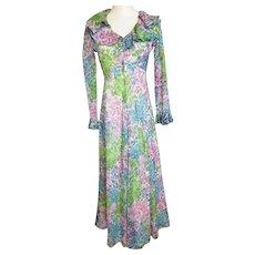 Romantic,  Ruffled, Seductive Summertime Maxi Dress