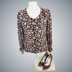 Roses, Roses Everywhere, Blouse and Shoes, to Match!