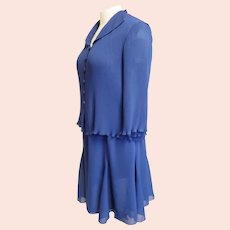 Royal Blue Ensemble for the Sophisticated Curvy Lady
