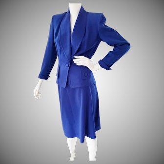 Royal Blue Royally Gorgeous Wool Suit