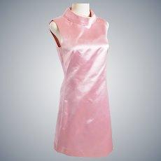 SHIMMERY Pink Satin Sleeveless Dress