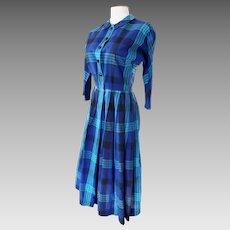 CRISP, BRIGHT Shirtwaist 1960's Dress