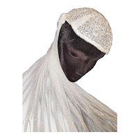 1910 'Juliet Cap' Beaded Bridal Veil