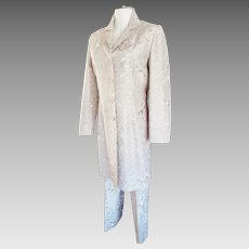 Smart Set for the Smart Set....Silk Walking Suit