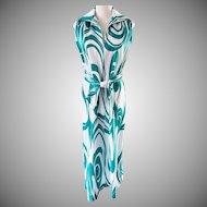 Splashy, Swirly, Fun-in-the-Sun Tory Richard Casual Dress