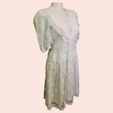 Scott McClintock 1920's-Style Lovely, Lacey, Light Blue Dress