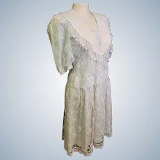 Scott McClintock 1920's-Style Lovely, Lacey, Light Blue Dress
