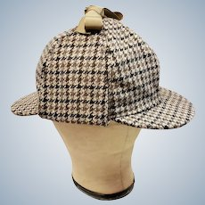 Sherlock Holmes DEER STALKER Hat