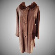 CHOCOLATE Suede 1960's Coat by Maurices