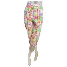 Summertime COLORFUL Crop Patchwork Pants