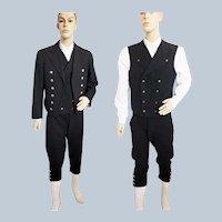 Syttende Mai!! Norwegian Man's BUNAD, (Mannbunaden) 1920's, Jacket, Breeches & Vest