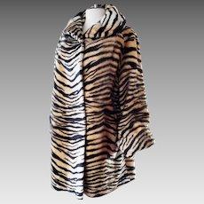 Grrrrreat Faux Fur Tiger Swing Coat