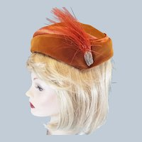 Velvet & Satin 1940's - 50's Ladies Dress Hat