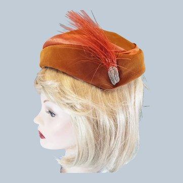Velvet & Satin 1940's - 50's Ladies Dress Hat