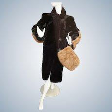 Very RARE Early 20th century Fur Coat & Muff