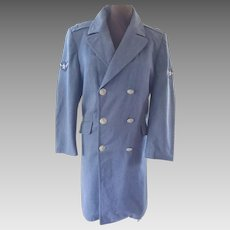 WWII & Korean War - Army Air Forces Blue Trench Coat