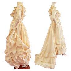 Western RUFFLED Dance or Wedding Dress