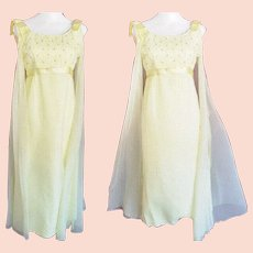 Radiant, Ravishing, Dreamy Yellow Chiffon Formal