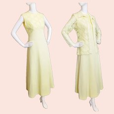You Are My SUNSHINE Jacket & Maxi Dress, 1960's