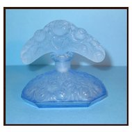 Antique Deco Czech Blue Tiara Perfume Bottle