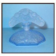 Antique Deco Czech Blue Tiara Perfume Bottle