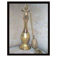 Devilbiss Kingfisher Gold Acorn Atomizer 1927 Perfume Set
