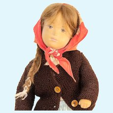 STUDIO SASHA PEASANT DOLL; Displayed Only By Original Owner; All Original Sasha 11/065 CI 69; 20 Inches Tall With Wig