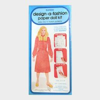 Earliest Vintage BARBIE Design a Fashion Paper Doll Kit; Mint Unopened in Plastic; Whitman/Mattel 1979
