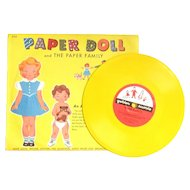 GOLDEN RECORD Paper Doll and the Paper Family; Mich Miller and Orchestra recorded Golden Record with Cut Out Clothes on the Back; 1953