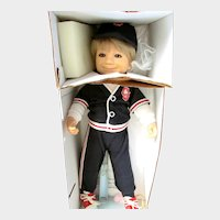 "Limited Edition Collector Doll: Cracker Jack ""Sailor Jack"" with his dog ""Bingo""; Doll, Dog, Certificate, How to Pose, History, Bat and Charm Prize"