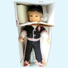 """Limited Edition Collector Doll: Cracker Jack """"Sailor Jack"""" with his dog """"Bingo""""; Doll, Dog, Certificate, How to Pose, History, Bat and Charm Prize"""