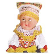 1939 LITHO PRINTED ON CLOTH Cut Sew Stuff CZECHOSLOVAKIA DOLL - New Front Back 3 Of 15