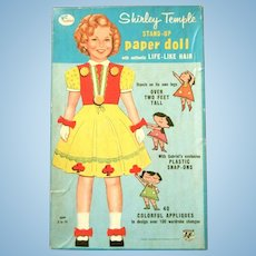 VINTAGE GABRIEL #304 Shirley TEMPLE over 2 feet Stand-Up Paper Doll with Life Like Hair