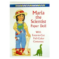 MARIA the SCIENTIST; One of a series of Career Paper Dolls for Young Girls from DOVER Beginners Activity Books