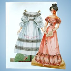 UFDC Miss Unity Paper Doll; Drawn by Peggy J Rosamond 1989 - Very Rigid Paper Doll with Two Costumes