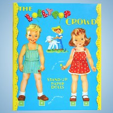 LOLLYPOP CROWD Stand-Up Paper Dolls; Four Dolls and a Lamb, Insert Stands, 8 Pages of Costumes: Paper Studio First Edition